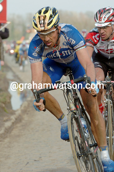 Johan Museeuw in the 2004 Paris-Roubaix