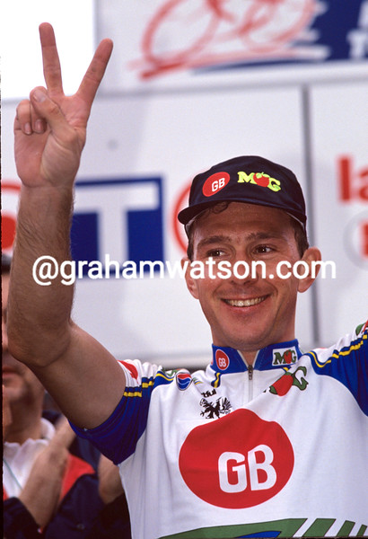 Johan Museeuw in the 1993 Paris-Tours