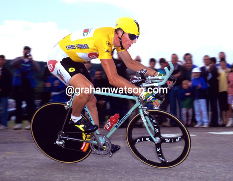 Johan Museeuw in the 1992 Tour de France