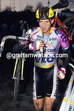 JOHAN MUSEEUW IN THE 1989 CYCLO-CROSS AT DIEGEM