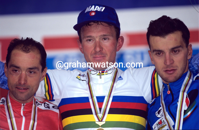 JOHAN MUSEEUW AFTER WINNING THE 1996 WORLD CHAMPIONSHIPS