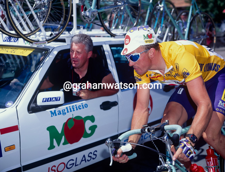 Johan Museeuw and Patrick Lefevre in the 1994 Tour de France