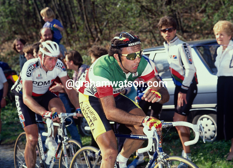 Moreno Argentin in the 1990 Tour of Flanders