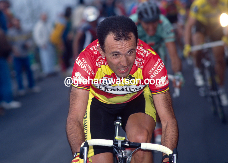 Moreno Argentin in the 1992 Milan-San Remo