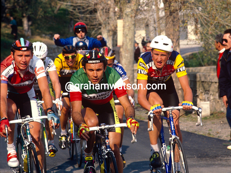 Moreno Argentin in the 1990 Milan-San Remo