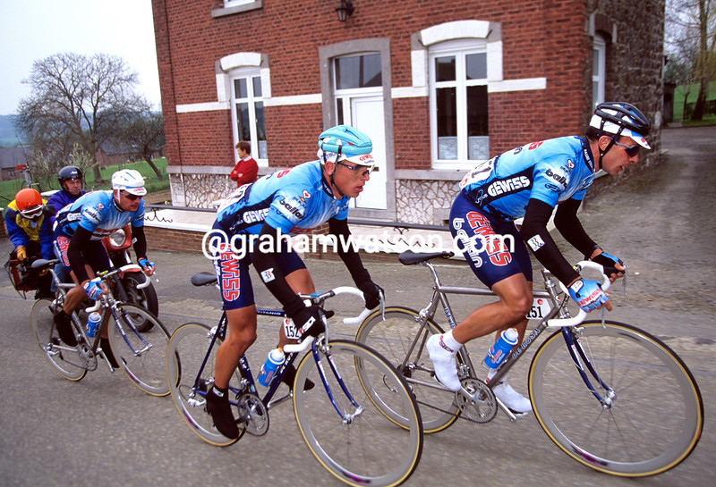 THREE GEWISS RIDERS ESCAPE IN THE 1994 FLECHE WALLONNE