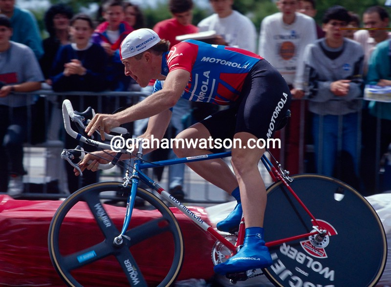 Andy Bishop in the 1992 Tour de France