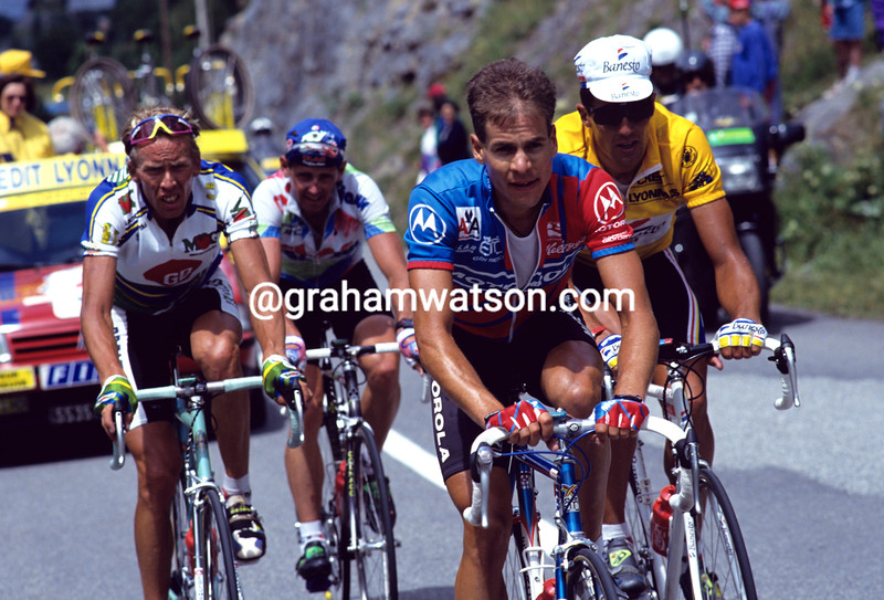 Andy Hamspten in the 1993 Tour de France