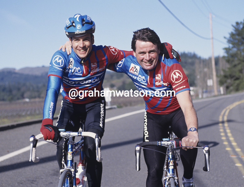 Andy Hampsten and Hennie Kuiper