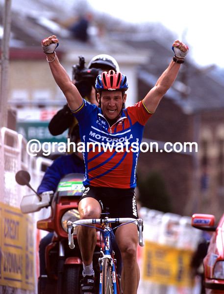 Lance Armstrong wins the 1996 Fleche Wallonne