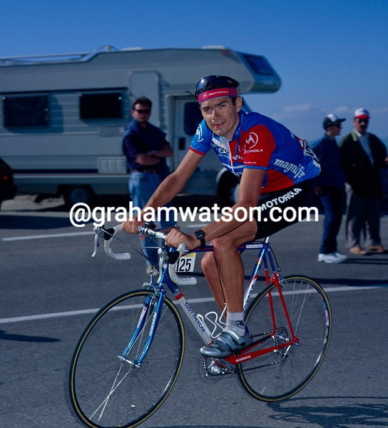 Gabriele Rampollo on a stage of the 1994 Giro d'Italia