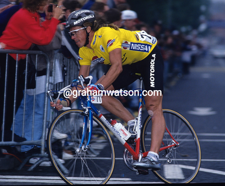 Phil Anderson in a the 1988 Kellogg's Tour of Britain