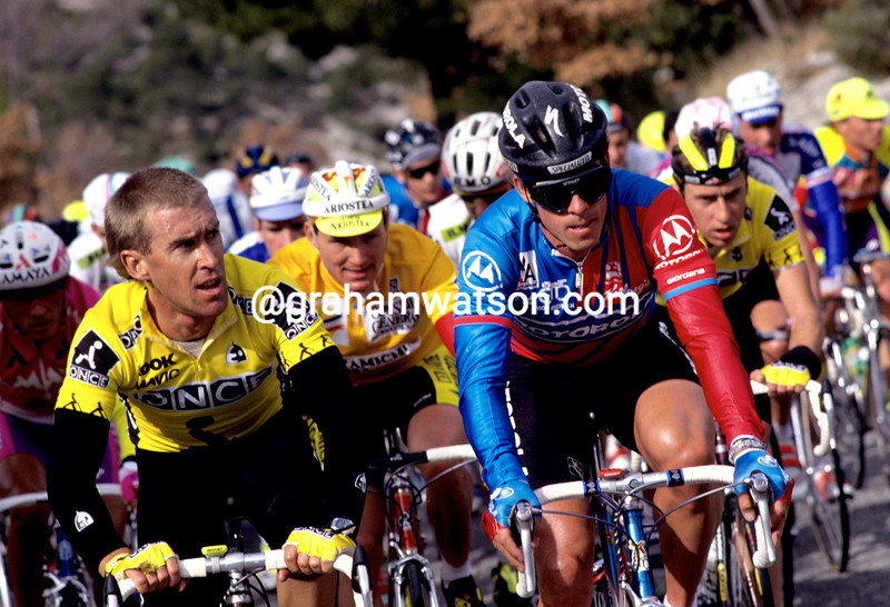 Neil Stephens and Phil Anderson in the 1992 Tour Mediterranean