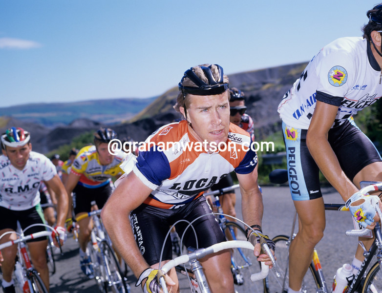 Neil Stephens in the 1991 Kellogg's Tour of Britain