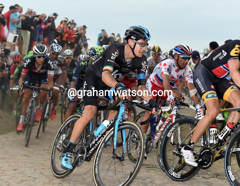Nicholas Roche on stage four of the 2015 Tour de France