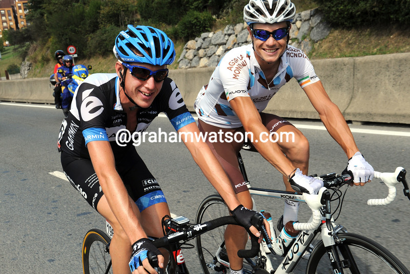 DAN MARTIN AND NICHOLAS ROCHE IN THE 2011 TOUR OF SPAIN