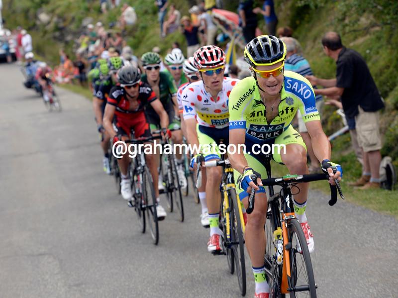 Nicholas Roche on stage seveteen of the 2014 Tour de France