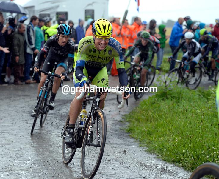 Nicholas Roche on stage five of the 2014 Tour de FRance