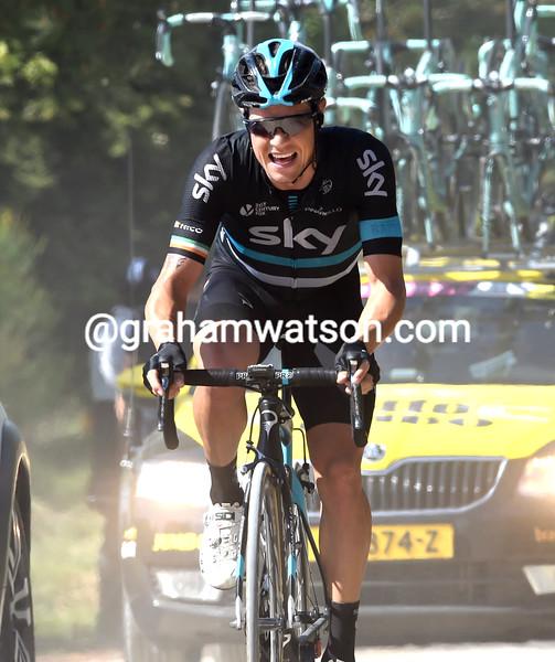 Nicholas Roche on stage eight of the 2016 Giro d'Italia