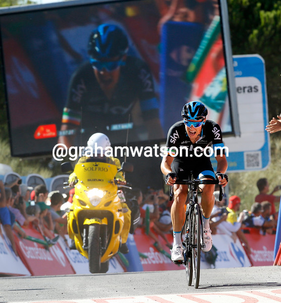 Nicholas Roche on stage two of the 2015 Tour of Spain