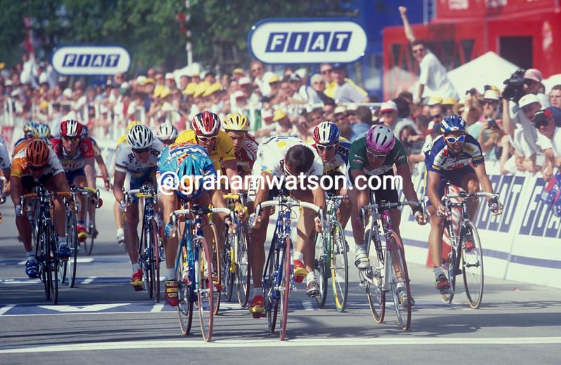 Nicola Minali wins stage four of the 1997 Tour de France