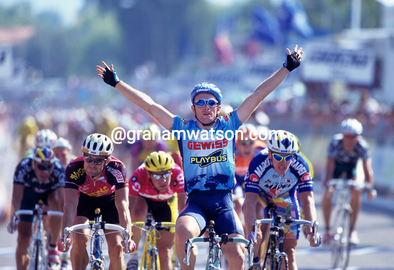 Nicola Minali wins a stage of the 1993 Vuelta a España
