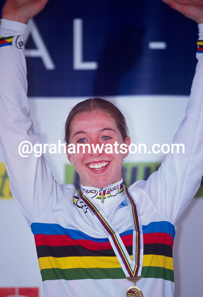 Nicole Cooke in the 2000 World Road Race Championships