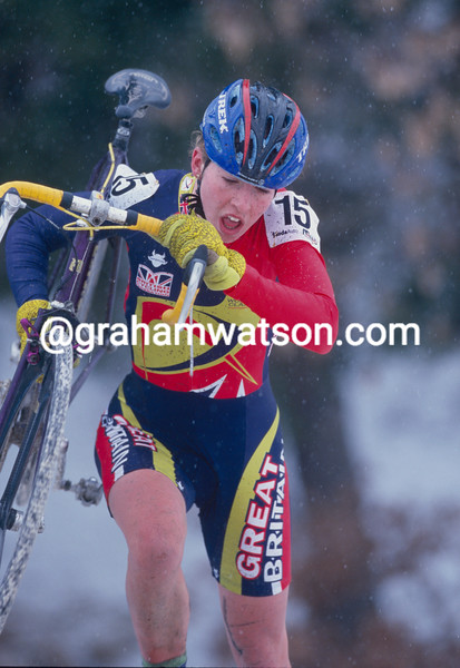 Nicole Cooke in the 2002 World Cyclo-Crosss Championships