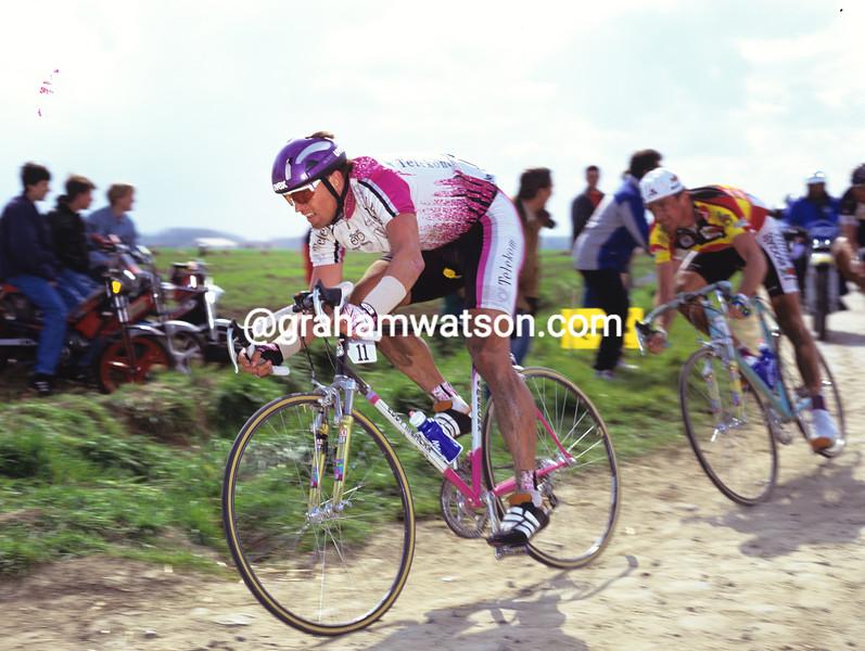 Olaf Ludwig in the 1992 Paris-Roubaix