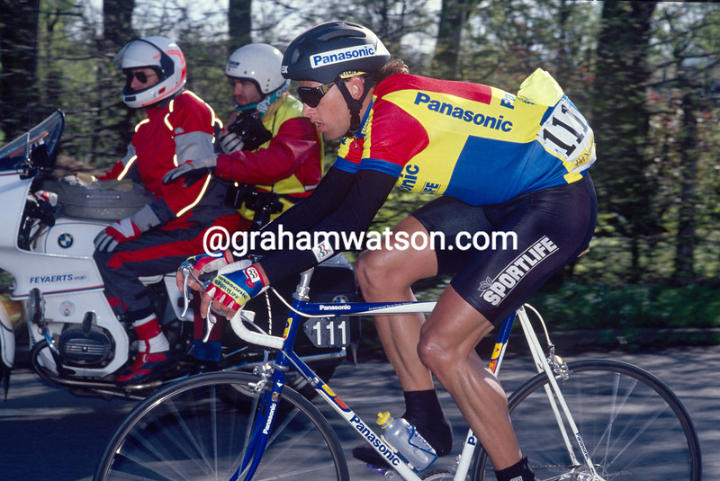 Olaf Ludwig in the 1990 Tour of Flanders