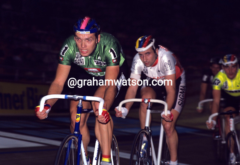 Olaf Ludwig in the 1990 Munich 6-Day race