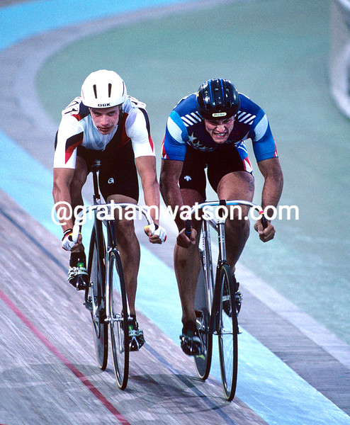 Ken Carpenter and Jens Fiedler in the 1992 Olympic Games sprint competition