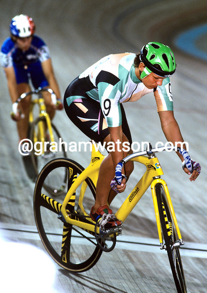 Erika Salumae in the sprint competition at the 1992 Olympic Games