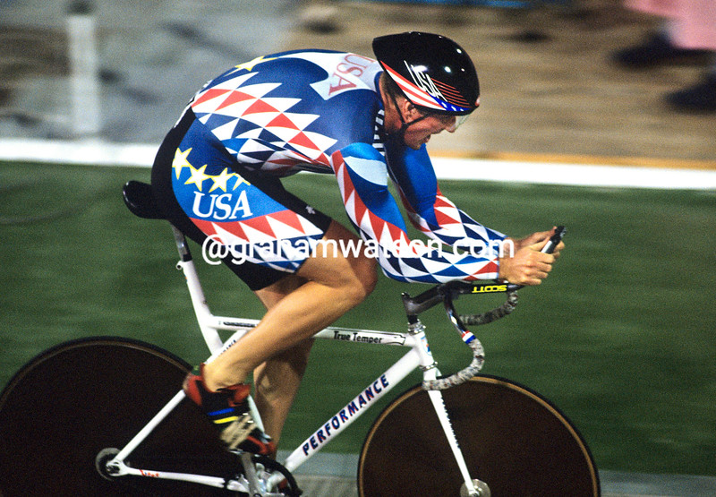 Erin Hartwell in the 1-kilo TT at the 1992 Olympic Games