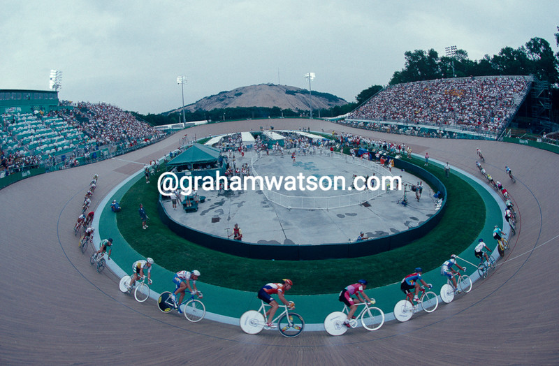 The velodrome in Atlanta in the 1996 Olympic Games
