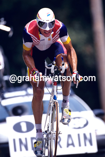 MIGUEL INDURAIN WINS THE TIME TRIAL GOLD MEDAL AT THE 1996 ATLANTA GAMES
