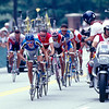 Michele Bartoli leads an escape in the mens road race in the 1996 Olympic Games