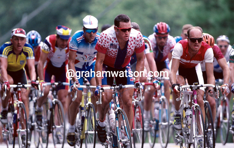 LANCE ARMSTRONG IN THE 1996 OLYMPIC GAMES ROAD RACE