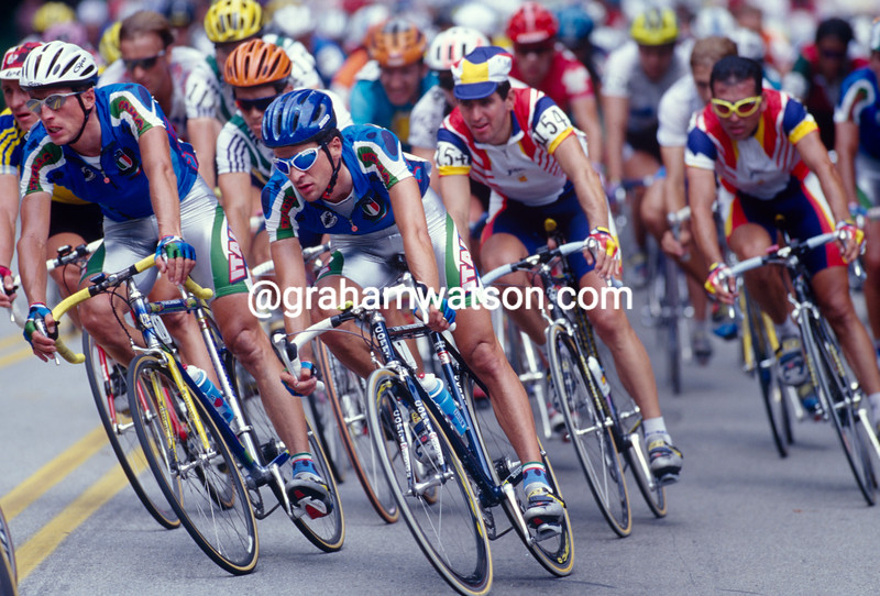 Michele Bartoli in the mens road race in the 1996 Olympic Games