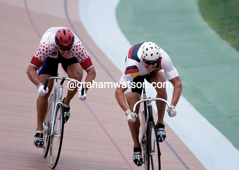 MARTY NOTHSTEIN AND JENS FIEDLER IN THE 1996 OLYMPIC GAMES