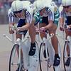 Brett Aitken leads the Australian team pursuit in the 1996 Olympic Games