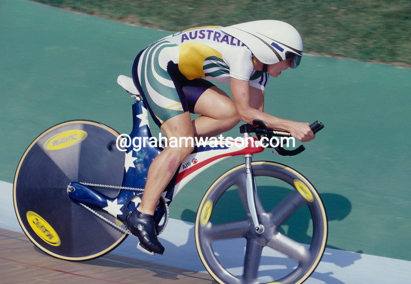 Kathy Watt in the 1996 Olympic Games