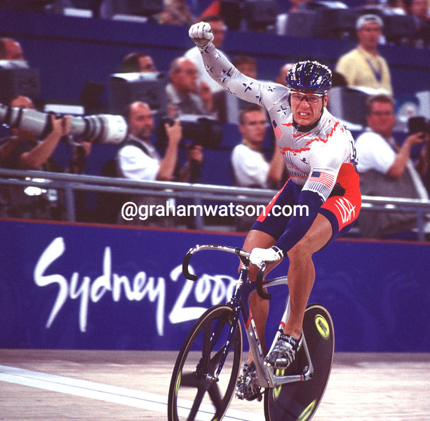 Marty Nothstein wins Gold in the sprint in the 2000 Olympic Games