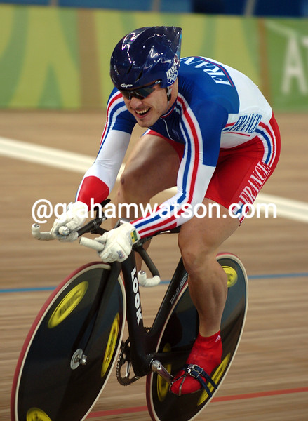 ARNAUD TOURNANT TAKES THE SILVER MEDAL IN THE 2004 OLYMPIC GAMES 1-KILO TT