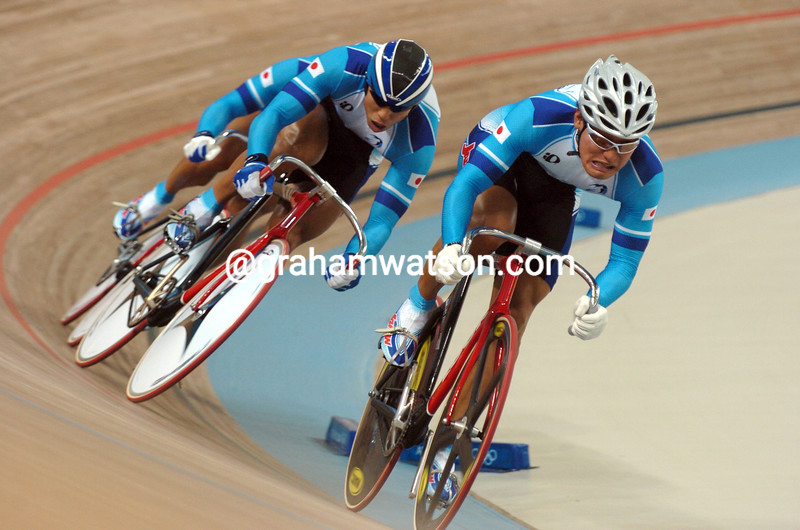 Japan races to the silver medal in the Olympic sprint in the 2004 Olympic Games