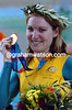 Anna Meares after winning the sprint Gold medal