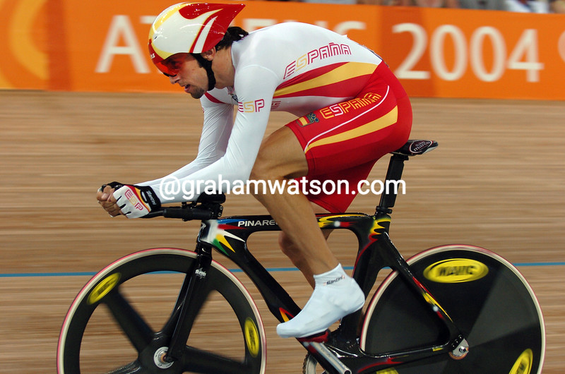 Sergio Escobar in the 2004 Olympic Games Pursuit
