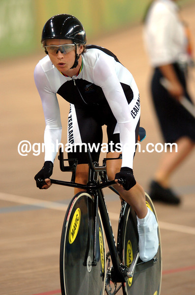 Sarah Ulmer in the womens pursuit at the 2004 Olympic Games