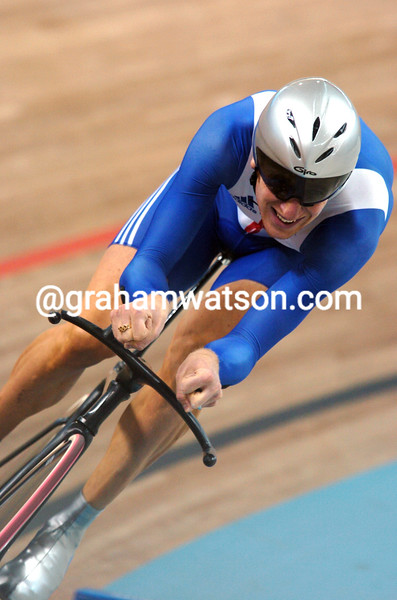 Bradley Wiggins in the 2004 Olympic Games Mens Pursuit