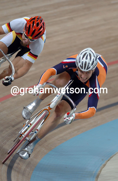 Theo Bos and Rene Wolff in the 2004 Olympic Games Mens Sprint